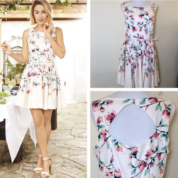 ef9cabf268b LC Lauren Conrad Dresses   Skirts - Lauren Conrad Floral Fit   Flare Dress  ...